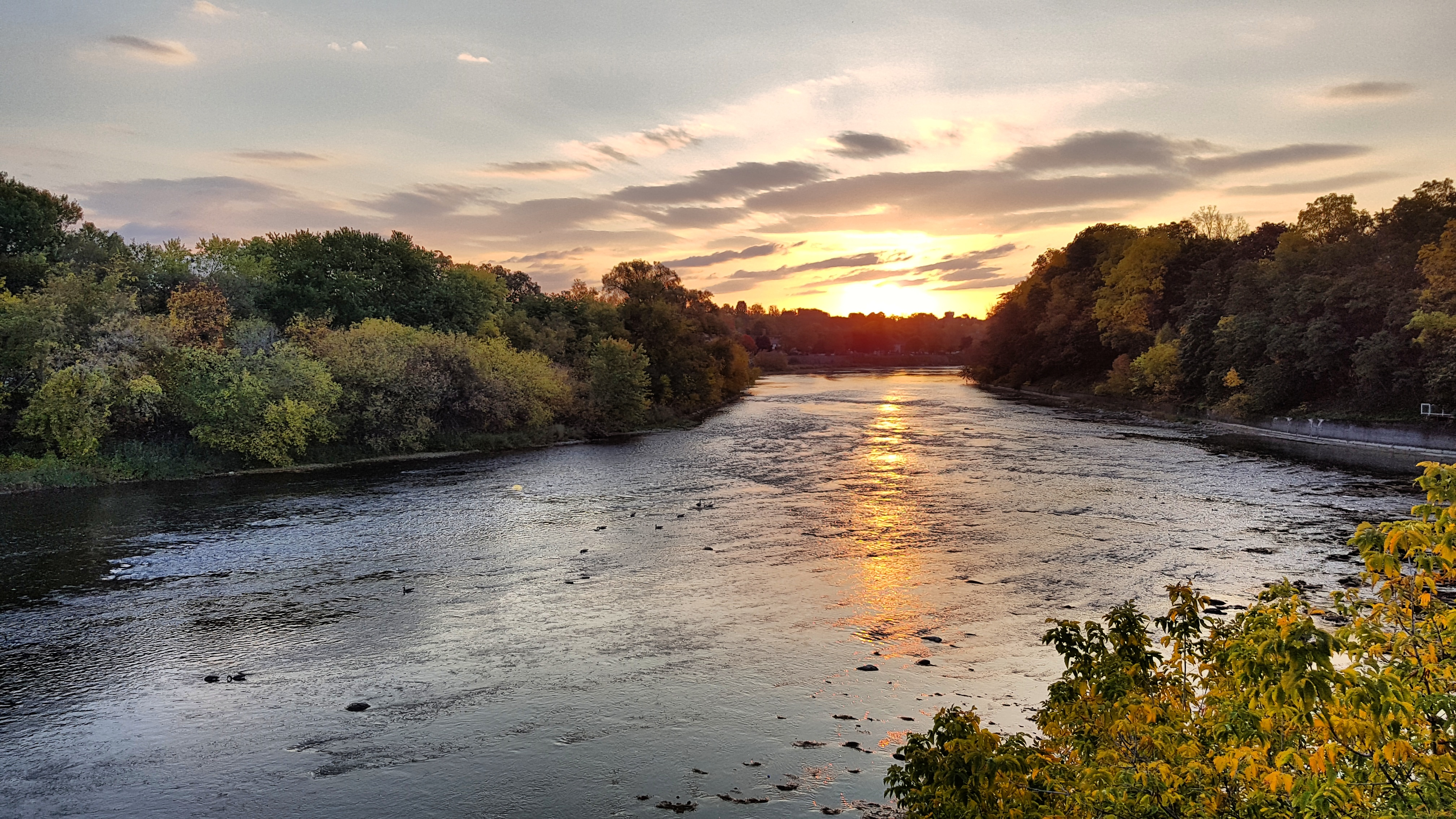 River and sunrise